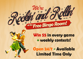 Free Bingo Room! (Available Limited Time Only) - Open 24/7