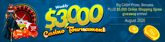 $3,000 Weekly Casino Tournament